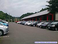 満車状態の天平ろまん館の駐車場