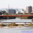 郡山堰と宮沢橋