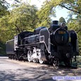 SL広場の蒸気機関車