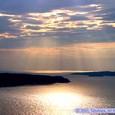 牡鹿半島の夕日