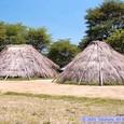再現した竪穴式住居