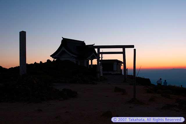 刈田岳夕景