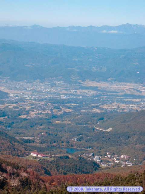 地蔵山頂駅からの眺め